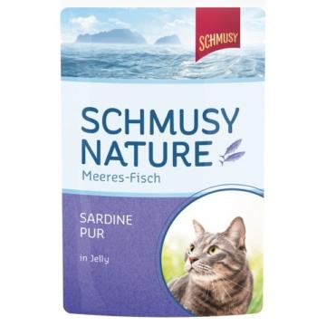 Schmusy Nature Meeres-Fisch Sardine Pur 24x100g