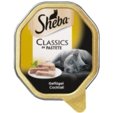 Sheba Katzenfutter Classics in Pastete Geflügel Cocktail - 11x85g