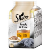 Sheba Katzenfutter Fresh & Fine Geflügel Variation Multipack - 6x50g