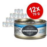 Sparpaket Greenwoods Adult 12 x 70 g - Gemischtes Paket (4 Sorten)