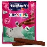 Vitakraft Cat-Stick mini Ente & Kaninchen - 3x3 Stück Sparangebot