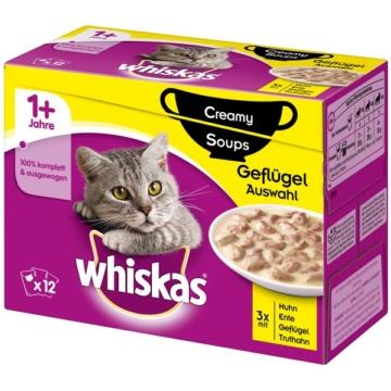 Whiskas Adult 1+ Creamy Soups Geflügelauswahl 12x85g