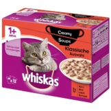 Whiskas Adult 1+ Creamy Soups Klassische Auswahl 12x85g
