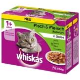 Whiskas Adult 1+ Fisch & Fleischauswahl in Gelee - 12x100g