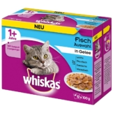 Whiskas Adult 1+ Fischauswahl in Gelee 12x100g - 12x100g