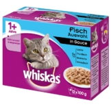Whiskas Adult 1+ Fischauswahl in Sauce - 12x100g