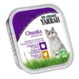 Yarrah Katzenfutter Bio Bröckchen Huhn Truthahn 16x100g