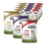 Yarrah Katzenfutter Bio Mix-Set Huhn, Huhn/Truthahn, Huhn/Rind 36x405g