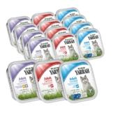 Yarrah Katzenfutter Bio Mix-Set Huhn/Truthahn, Rind und Fisch 96x100g