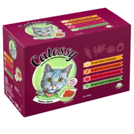 Mixpack Catessy Häppchen in Gelee Gemüse-Allerlei - 12 x 100 g mit 4 verschiedenen Sorten