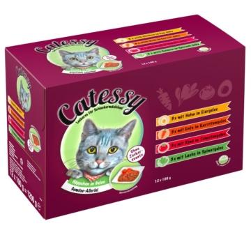 Mixpack Catessy Häppchen in Gelee Gemüse-Allerlei - 48 x 100 g mit 4 verschiedenen Sorten