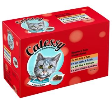Mixpack Catessy Häppchen in Sauce - 12 x 100 g mit 4 verschiedenen Sorten