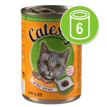 Probierpaket: Catessy Häppchen in Sauce oder in Gelee 6 x 400 g - mit Ente und Leber in Sauce