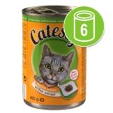 Probierpaket: Catessy Häppchen in Sauce oder in Gelee 6 x 400 g - mit Huhn in Gelee