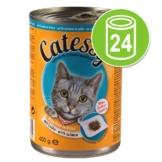 Sparpaket: Catessy Häppchen in Sauce oder in Gelee 24 x 400 g - mit Lachs in Gelee