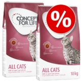 Sparpaket Concept for Life 2 x Großgebinde - Indoor Cats (2 x 10 kg)